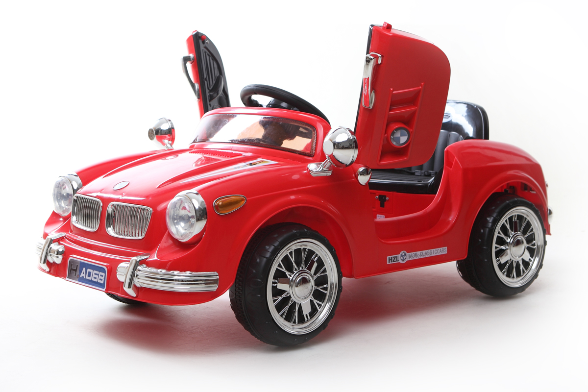 Red classic roadster 6v kids 39 electric ride on car ebay for Toys r us motorized cars