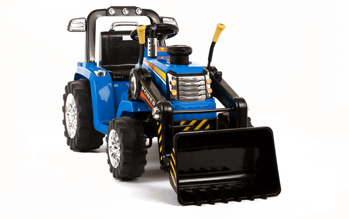 blue rc twin motor tractor 12v kids electric ride on tractor
