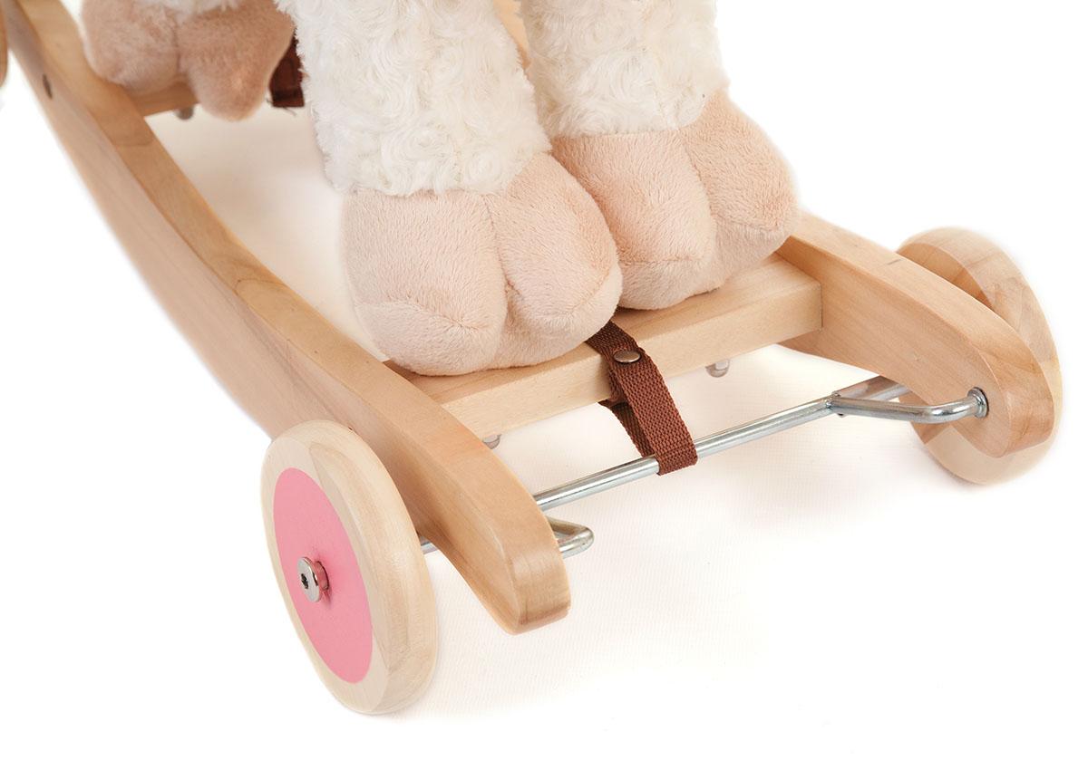 Wooden Toy Parts Catalog : Kids white wooden rocking sheep ride on rocker toy