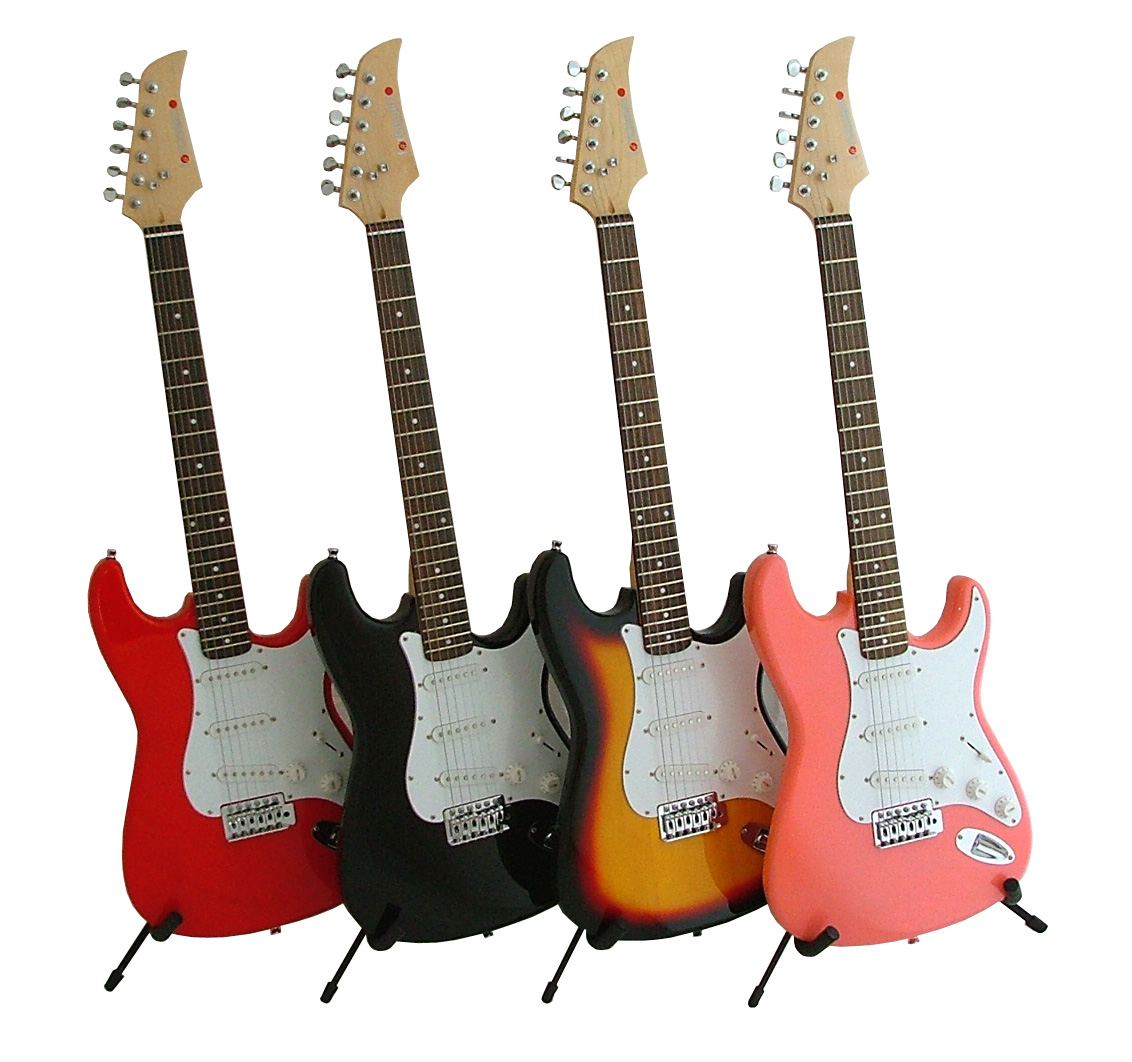 sirocco electric guitar by fortissimo red ebay. Black Bedroom Furniture Sets. Home Design Ideas