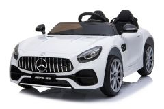 12V Licensed Mercedes AMG GT 2 Seater Ride On Car White