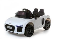12V Licensed White Audi R8 Spyder Battery Ride On Car