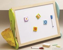 50% OFF CLEARANCE! Small Wooden Easel: 2 in 1 Blackboard and Whiteboard
