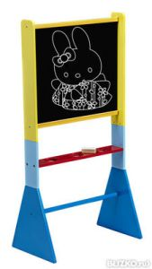 40% OFF CLEARANCE! Wooden Blackboard Easel On Blue Stand