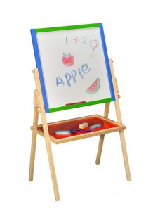 Wooden Easel Board and Shelf