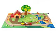 30% OFF CLEARANCE! Wooden Farm Themed Car & Train 45 Pieces Sets