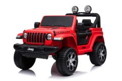 12V Licensed Jeep Rubicon 2 Seater Ride On Car Red