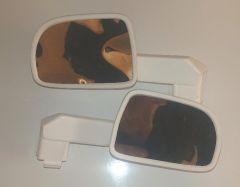 Pair of wing mirrors - White