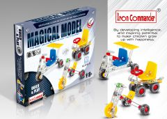 Kids' DIY Metal Toy Models - 3 mixed, 165 pcs