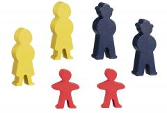 Wooden Set Of Figurine People Track Accessory / Part