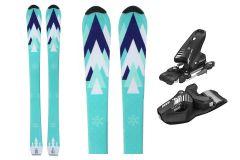 Tigris Junior Unisex 120cm Skis and Tyrolia Bindings