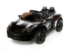 12V Black Roadster Battery Ride On Car