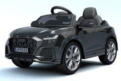 12V Licensed Black Audi Q8 RS Battery Ride On Car
