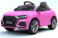 12V Licensed Pink Audi Q8 RS Battery Ride On Car