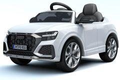 12V Licensed White Audi Q8 RS Battery Ride On Car