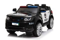 Battery Powered - 12V Black Police Ride On Car