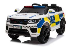 Battery Powered - 12V White Police Ride On Car