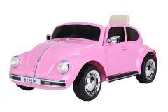 12V Licensed VW Beetle Ride On Car Pink