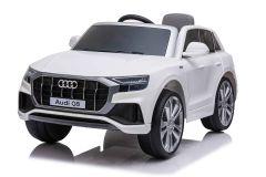 12V Licensed White Audi Q8 Battery Ride On Car