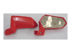 Pair of wing mirrors red