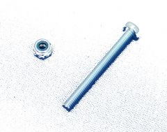 Steering wheel securing nut and bolt